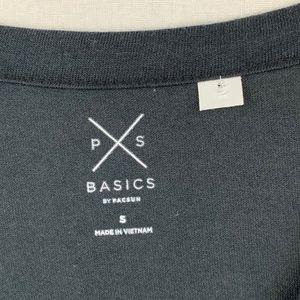 PacSun Tops - NWOT - PacSun Basics Blue V-neck Tee - S
